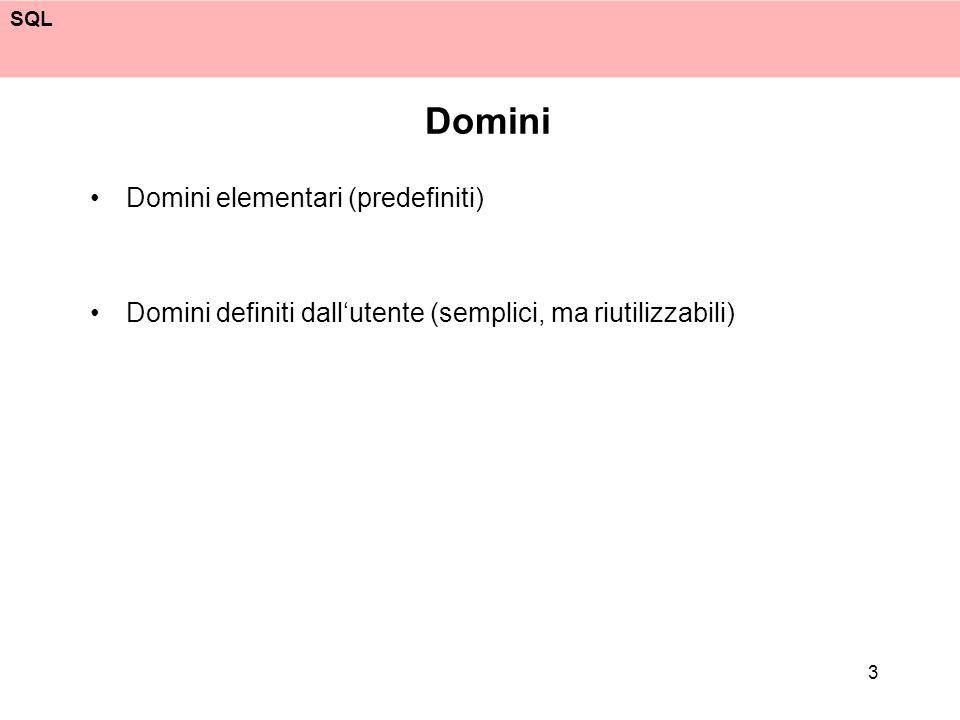 SQL 34 Proiezione: duplicati select Cognome from Impiegato select distinct Cognome from Impiegato