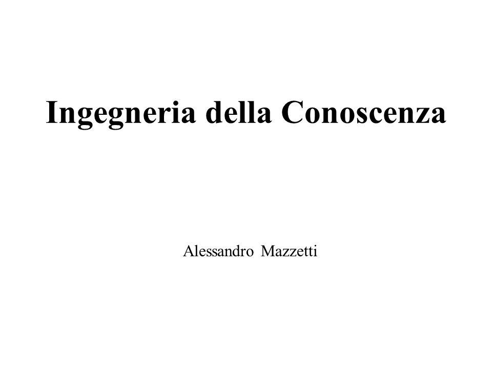 Ingegneria della Conoscenza Alessandro Mazzetti