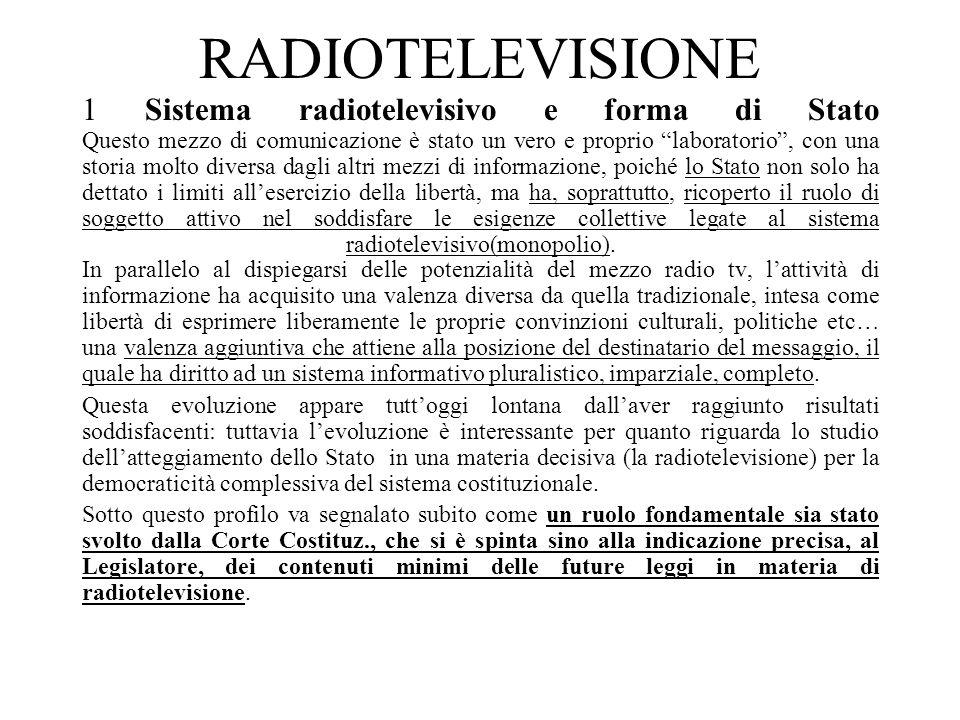 9 La legge 223 del 1990 sul sistema radiotelevisivo misto pubblico e privato Corte Cost.