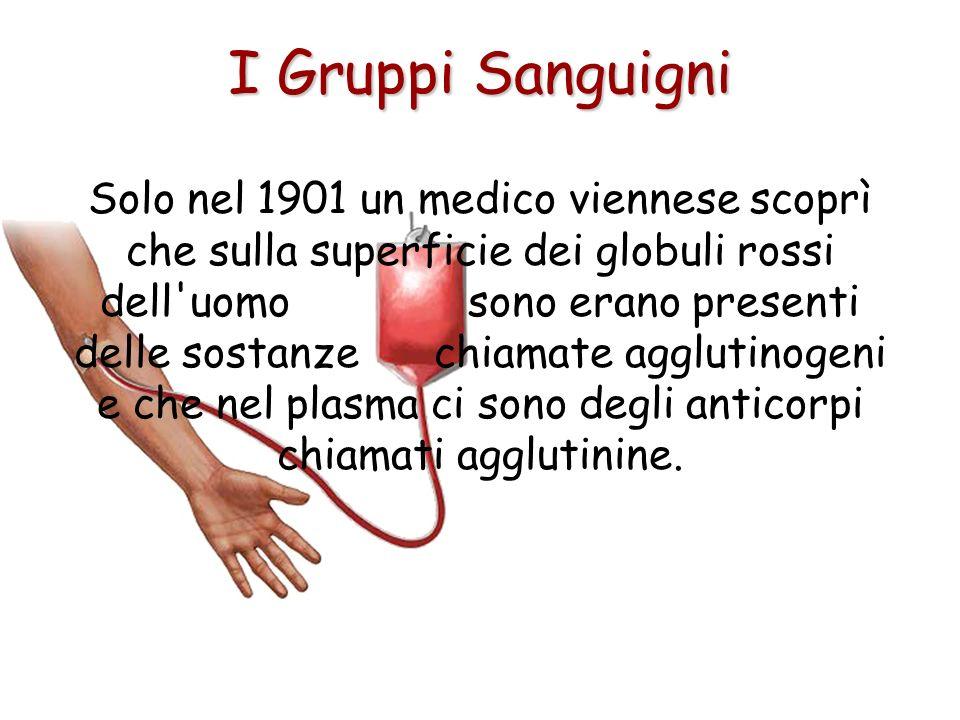 Fin dall'antichità vennero compiuti molti studi sul sangue, anche perché, quando si iniettava il sangue di un individuo sano ad un individuo malato, s