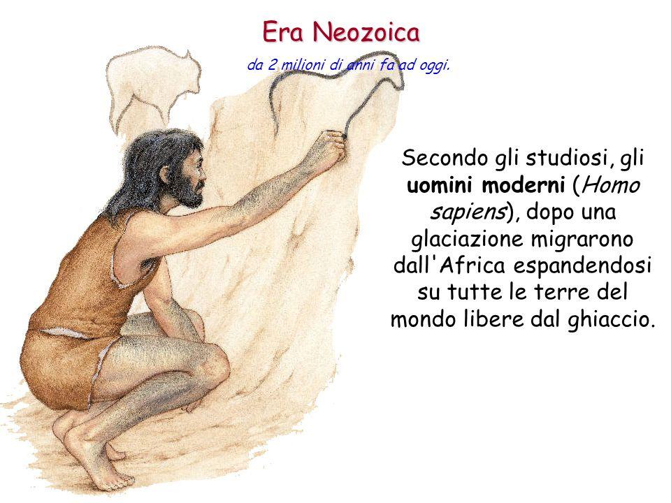 Secondo gli studiosi, gli uomini moderni (Homo sapiens), dopo una glaciazione migrarono dall'Africa espandendosi su tutte le terre del mondo libere da