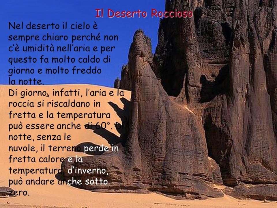 Il Deserto Roccioso Come nascono le pietre e la sabbia La differenza di temperatura tra il giorno e la notte fa allargare e restringere le rocce.