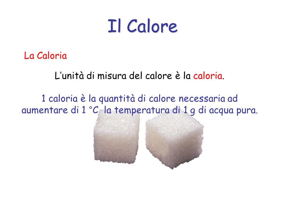 La Caloria Lunità di misura del calore è la caloria.
