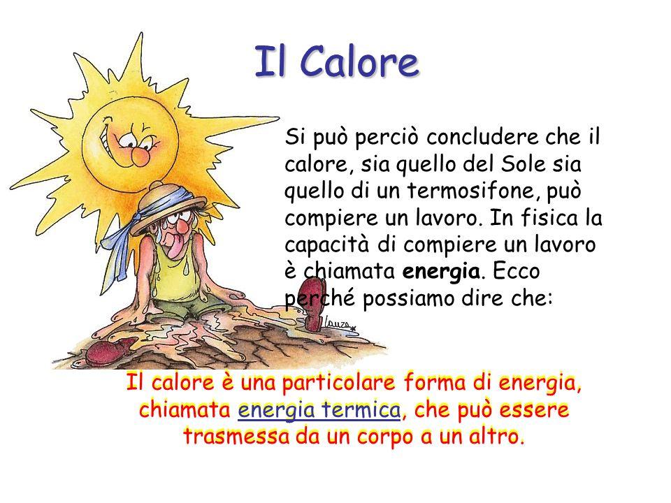 Si può perciò concludere che il calore, sia quello del Sole sia quello di un termosifone, può compiere un lavoro.
