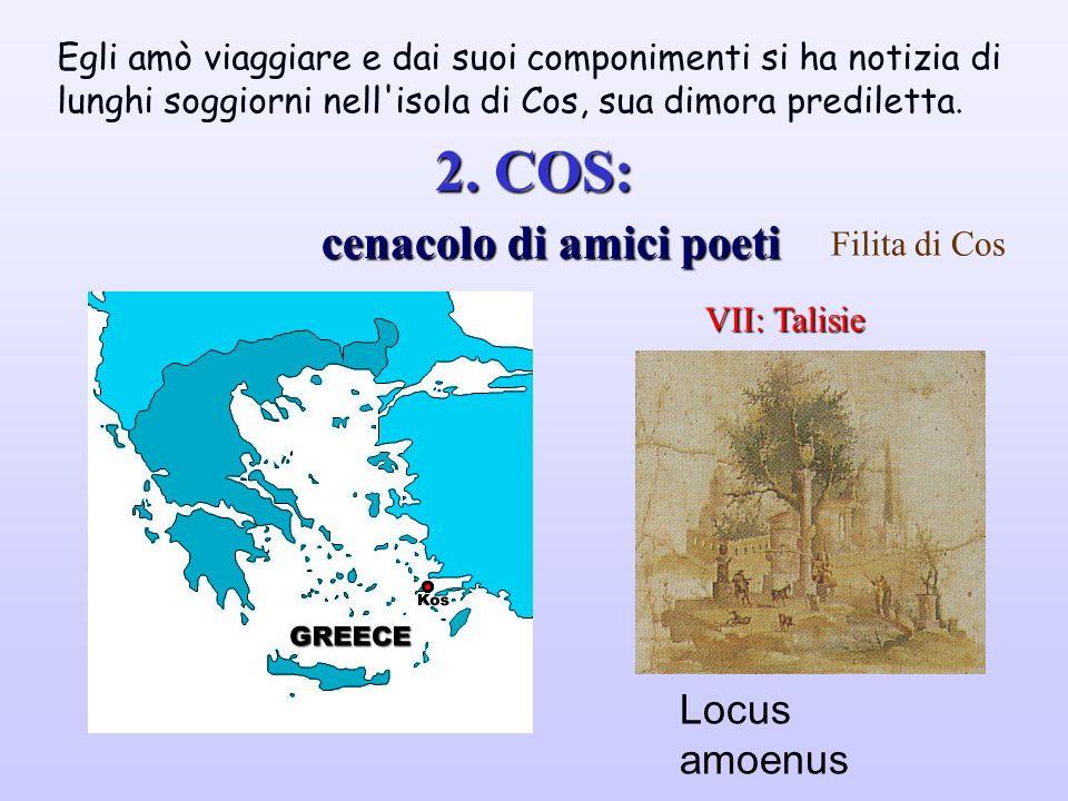 TEOCRITO Tre ambienti:SIRACUSA Le fonti della tradizione sono concordi nell'affermare che nacque a Siracusa nel periodo a cavallo tra il IV ed il III