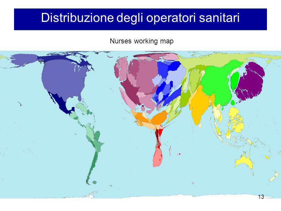 Distribuzione degli operatori sanitari Nurses working map 13