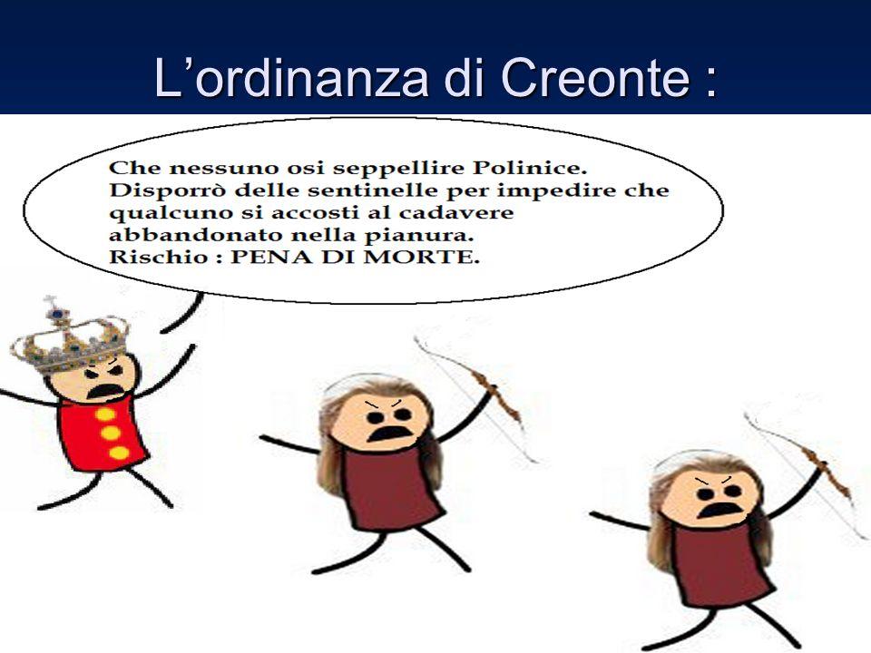 Lordinanza di Creonte :