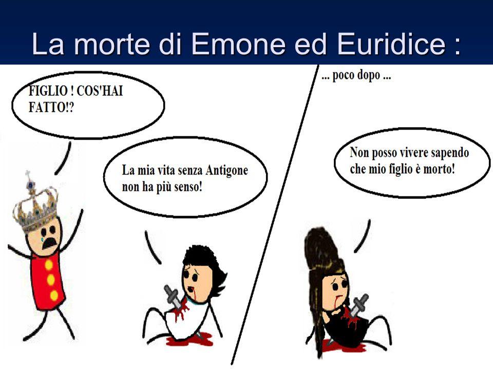 La morte di Emone ed Euridice :