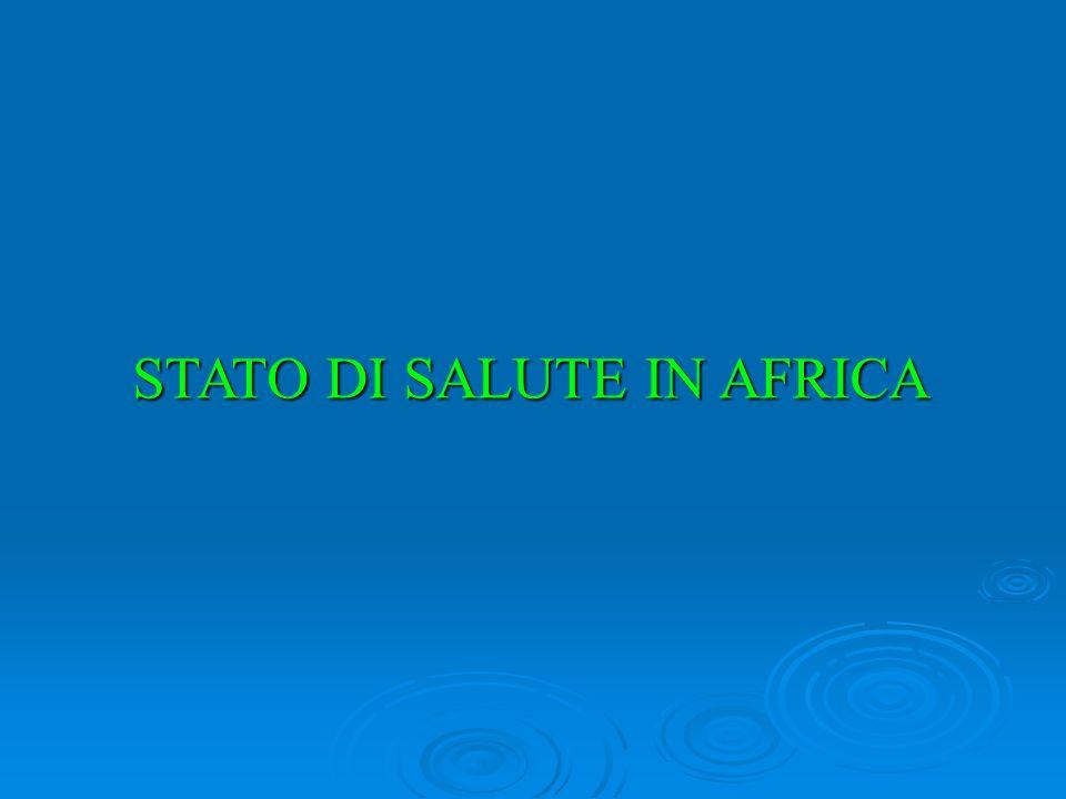 STATO DI SALUTE IN AFRICA