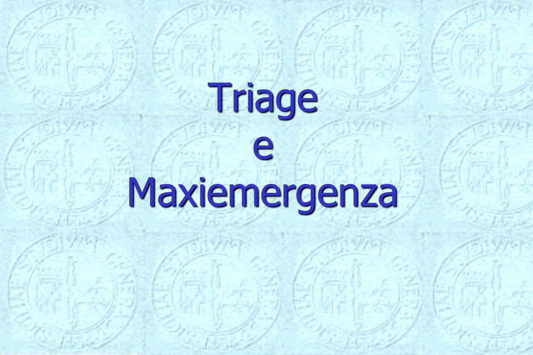 Triage e Maxiemergenza