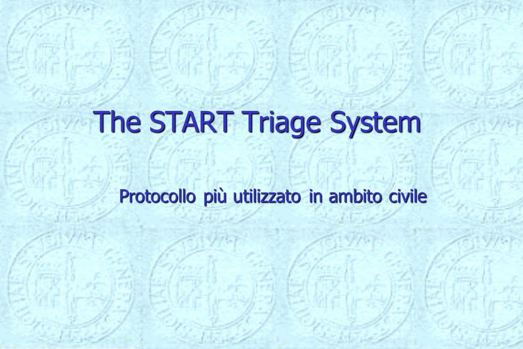 The START Triage System Protocollo più utilizzato in ambito civile