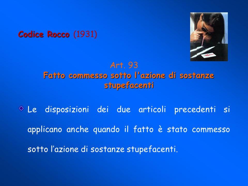 Codice Rocco Codice Rocco (1931) Ubriachezza abituale Art.
