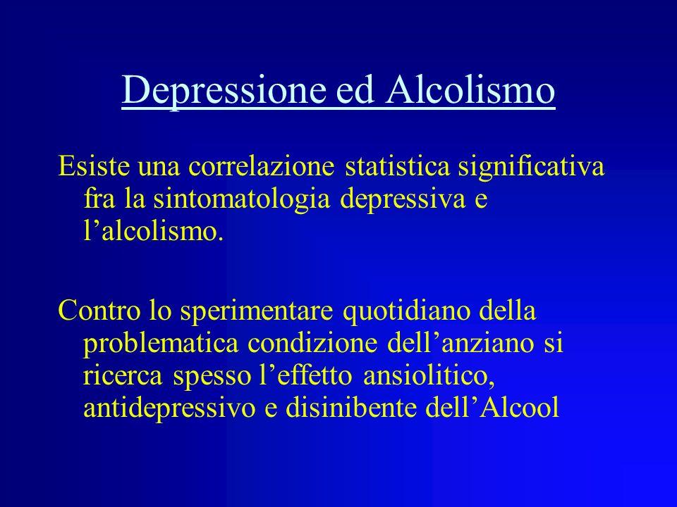 LATEONSET DRINKER Sono coloro che non provengono da precedenti abusi ed iniziano la loro dipendenza in età già avanzata, spesso come fenomeno reattivo
