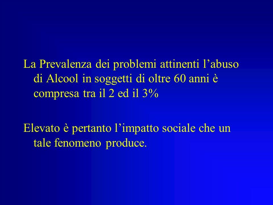 ALCOLISMO e PSICOPATOLOGIA dellANZIANO Prof.ssa C. Calandra