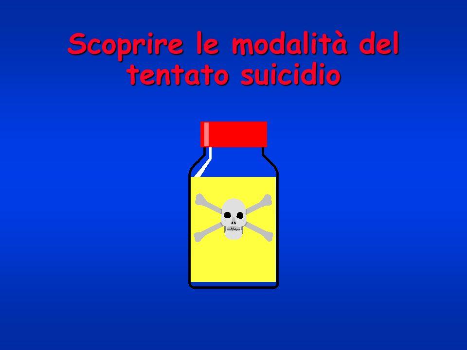 Scoprire le modalità del tentato suicidio