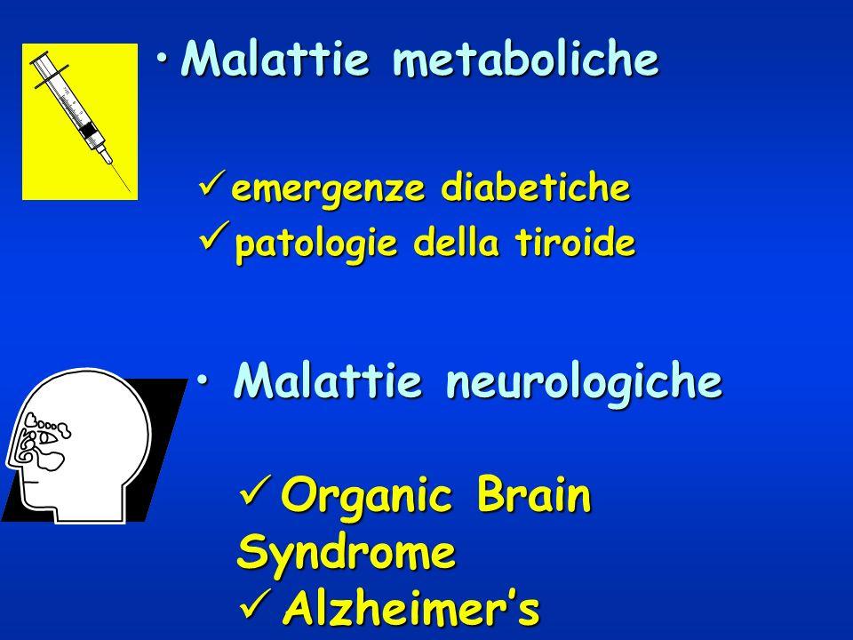 Malattie metabolicheMalattie metaboliche emergenze diabetiche emergenze diabetiche patologie della tiroide patologie della tiroide Malattie neurologic