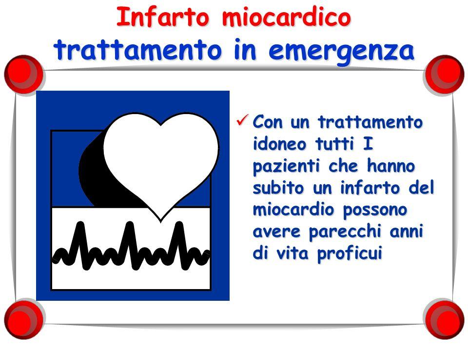 Infarto miocardico trattamento in emergenza Con un trattamento idoneo tutti I pazienti che hanno subito un infarto del miocardio possono avere parecch