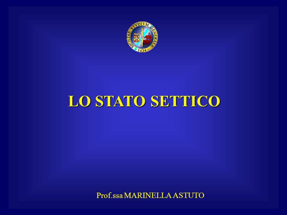 LO STATO SETTICO Prof.ssa MARINELLA ASTUTO