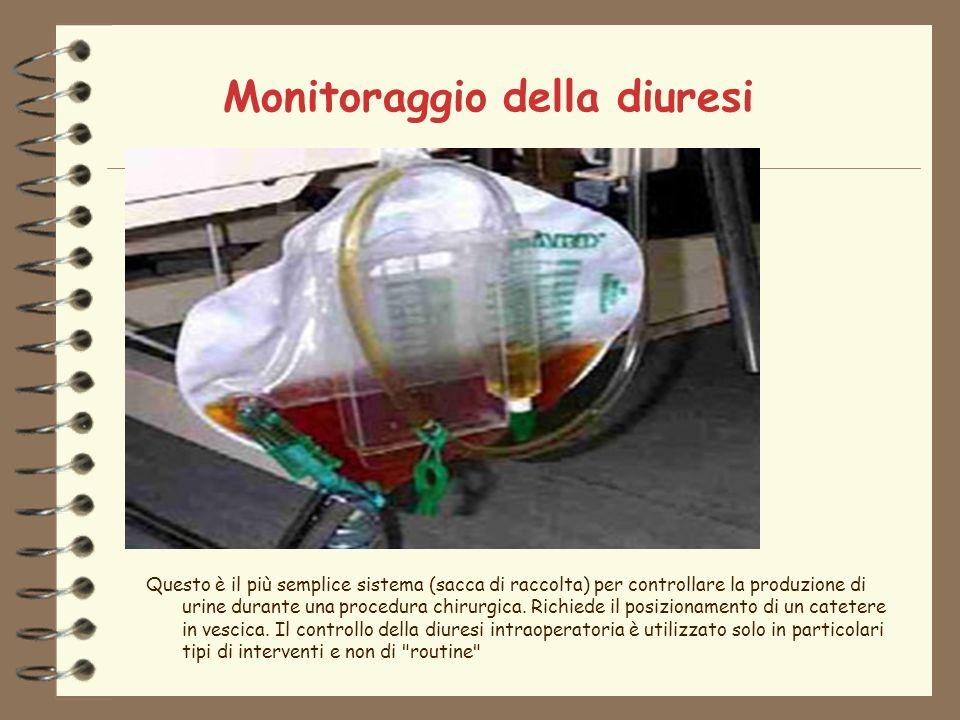 Monitoraggio della diuresi Questo è il più semplice sistema (sacca di raccolta) per controllare la produzione di urine durante una procedura chirurgica.