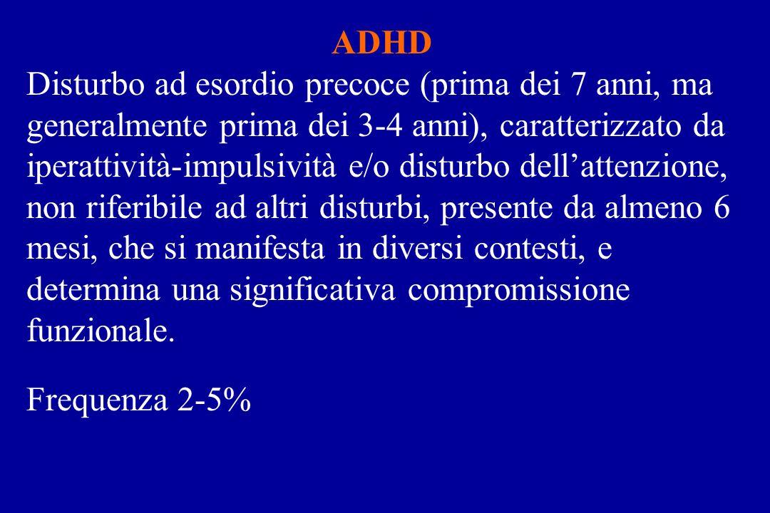 Nei bambini affetti da ADHD viene riportata unincidenza più elevata di anomalie elettroencefalografiche rispetto alla popolazione pediatrica di bambini non affetti da tale disturbo.