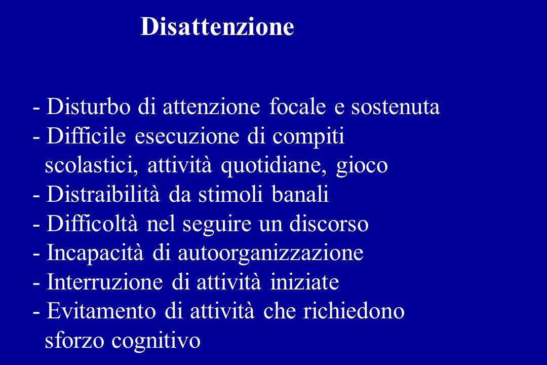 Impulsività - Difficoltà di controllo comportamentale - Incapacità a differire la risposta automatica ad uno stimolo (es.