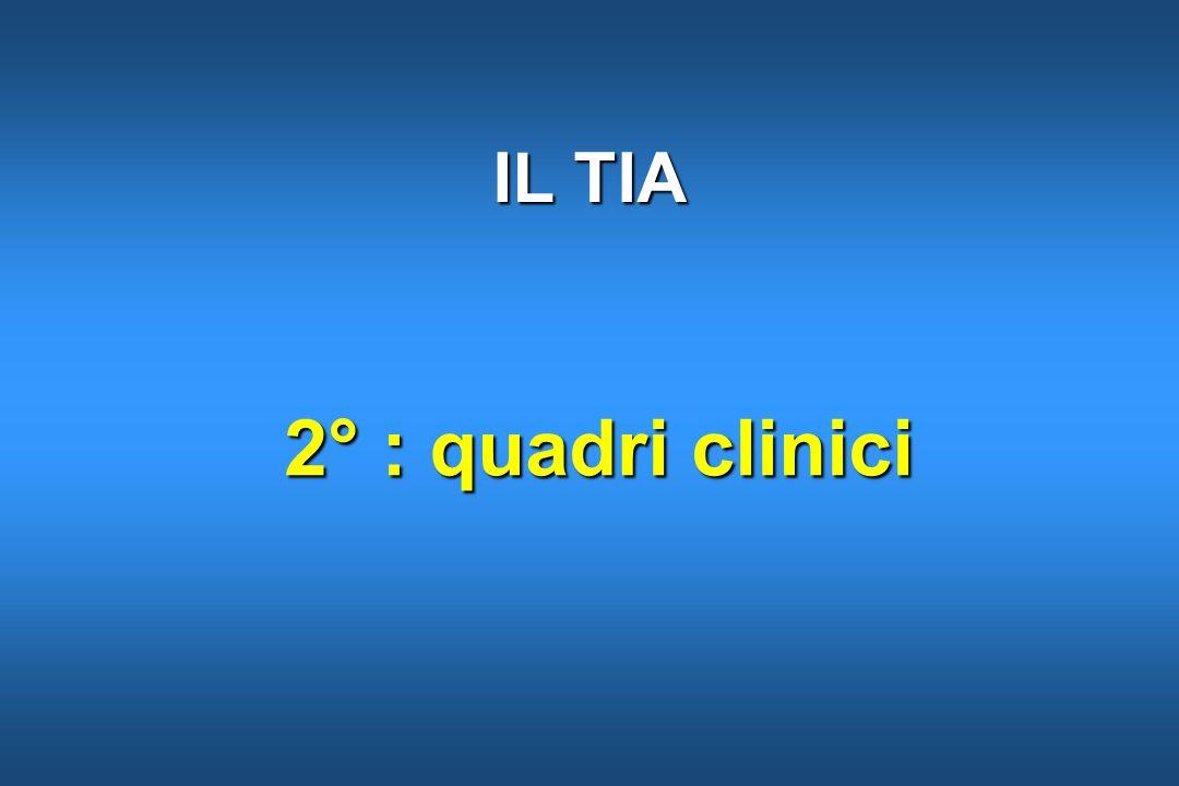2° : quadri clinici 2° : quadri clinici IL TIA