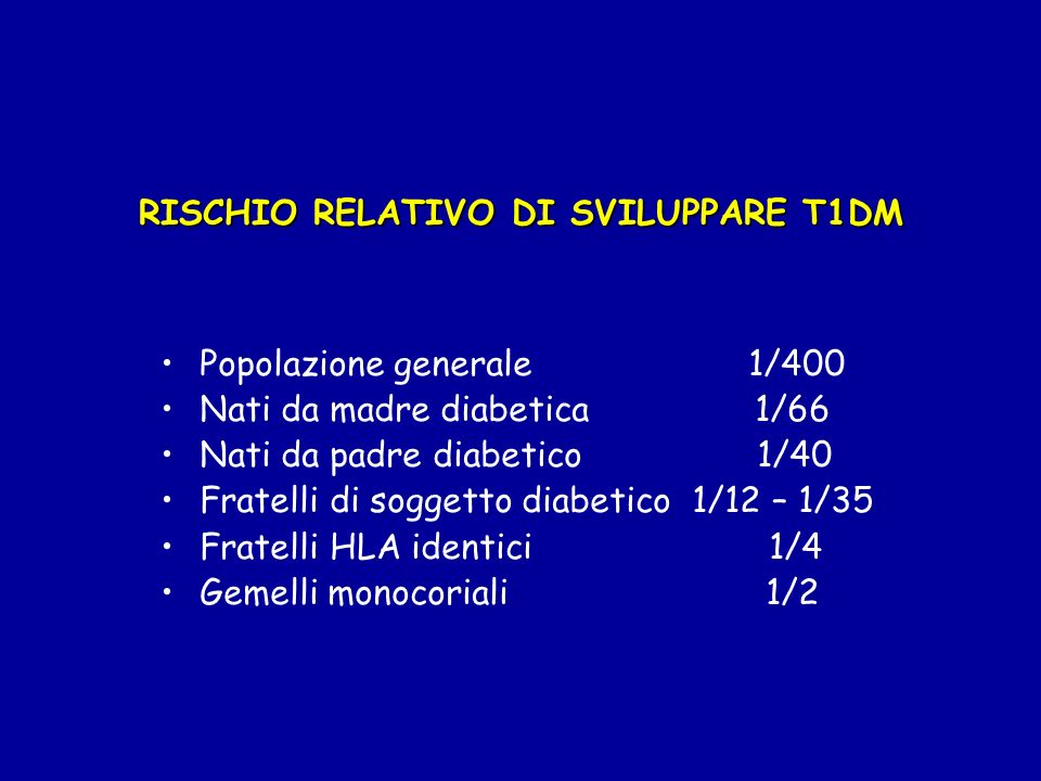 FATTORI IMMUNITARI Fenomeni umorali: presenza di anticorpi ICA (anticorpi antiβcellula), IAA (anticorpi anti-insulina), antiGAD (anticorpi anti-glutammico decarbossilasi), IA2 (anticorpi anti-protein- tirosinfosfatasi), ZnT8 (anticorpi anti Zinc Transporter 8) Fenomeni cellulomediati: linfociti killers, linfociti T helper/suppressor Insulite: infiltrato infiammatorio linfociti T attivati, linfociti B, macrofagi