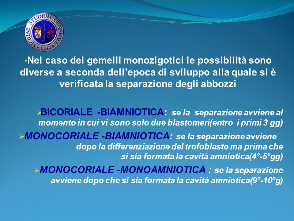 SINDROME DA TRASFUSIONE FETO-FETALE Grave complicanza della gravidanza monozigotica monocoriale biamniotica,causata dalla presenza di anastomosi vascolari tra le circolazioni dei due feti che conducono ad una sindrome clinica che si manifesta,intorno alla 20-24 sett.