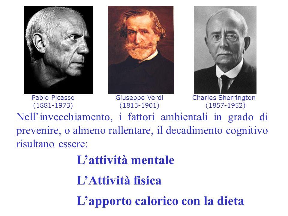 Nellinvecchiamento, i fattori ambientali in grado di prevenire, o almeno rallentare, il decadimento cognitivo risultano essere: Giuseppe Verdi (1813-1