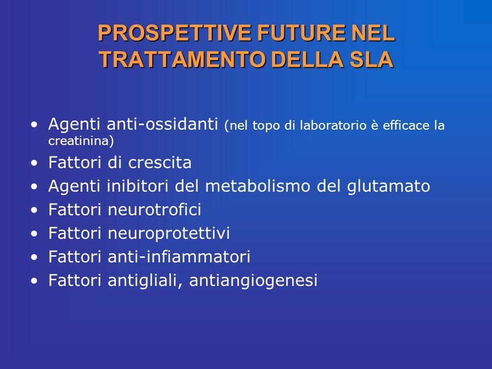 Agenti anti-ossidanti (nel topo di laboratorio è efficace la creatinina) Fattori di crescita Agenti inibitori del metabolismo del glutamato Fattori ne