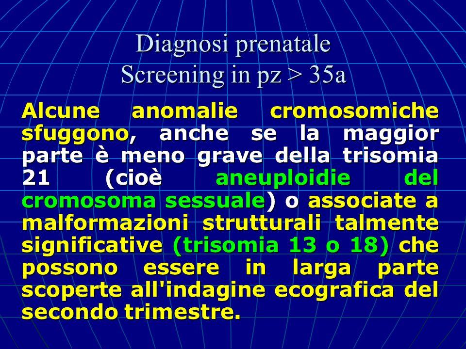 Alcune anomalie cromosomiche sfuggono, anche se la maggior parte è meno grave della trisomia 21 (cioè aneuploidie del cromosoma sessuale) o associate