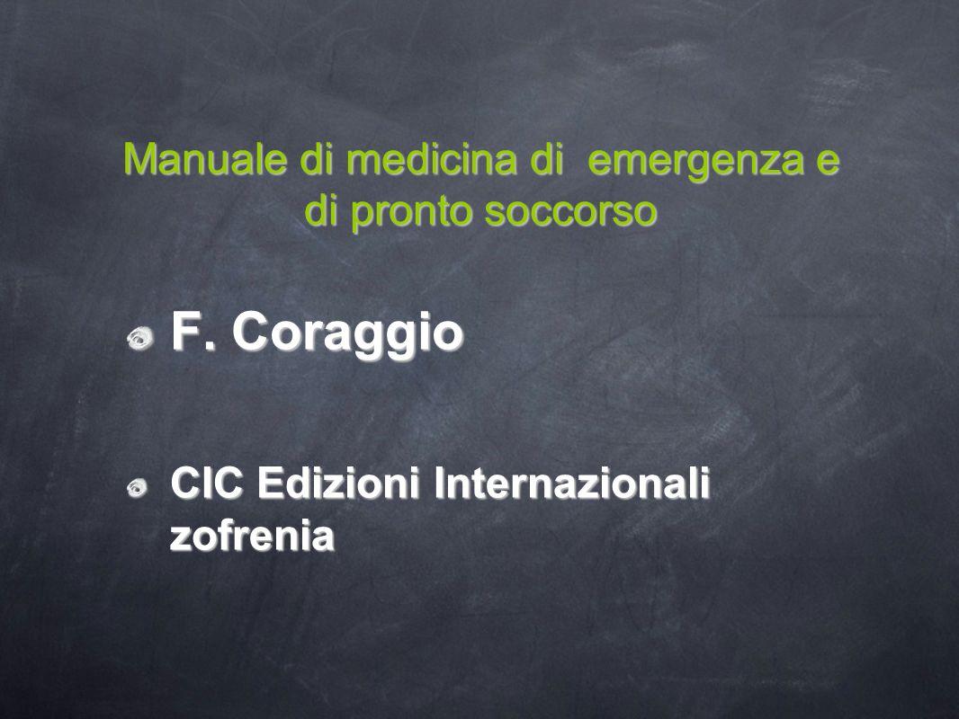Manuale di medicina di emergenza e di pronto soccorso F.