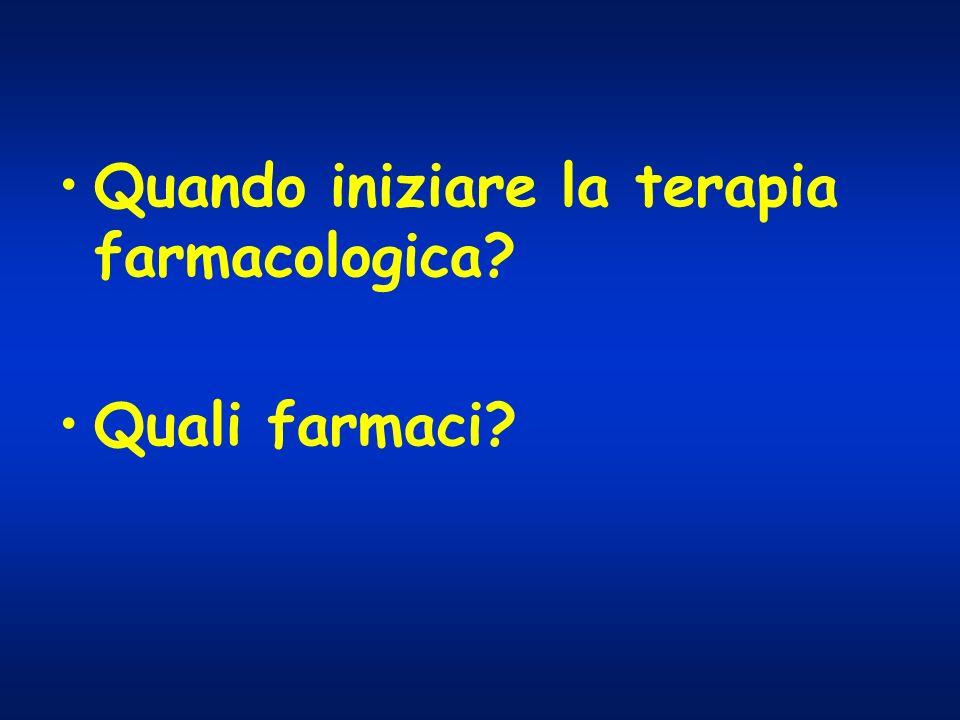 Quando iniziare la terapia farmacologica? Quali farmaci?