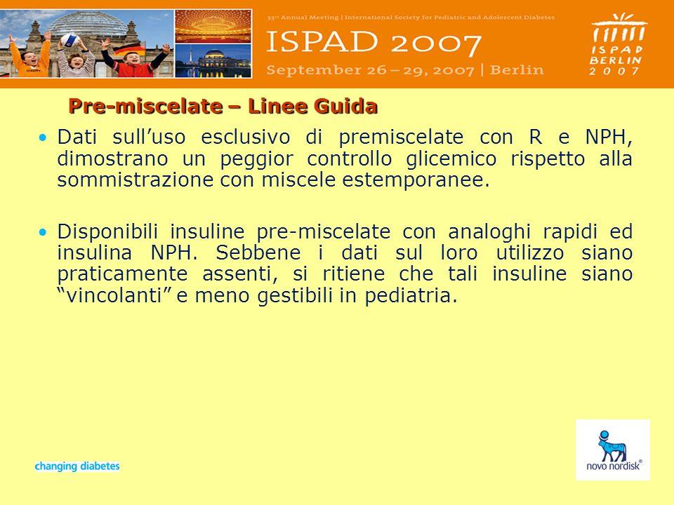 Presentation titleSlide no 47Date Pre-miscelate – Linee Guida Dati sulluso esclusivo di premiscelate con R e NPH, dimostrano un peggior controllo glic