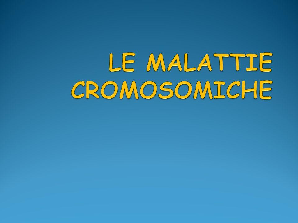 Sindrome di Down Infine, l1% circa dei pazienti ha un mosaicismo cromosomico per non- disgiunzione mitotica post-zigotica, con la presenza, quindi, di una linea cellulare a cariotipo normale e una con trisomia 21.
