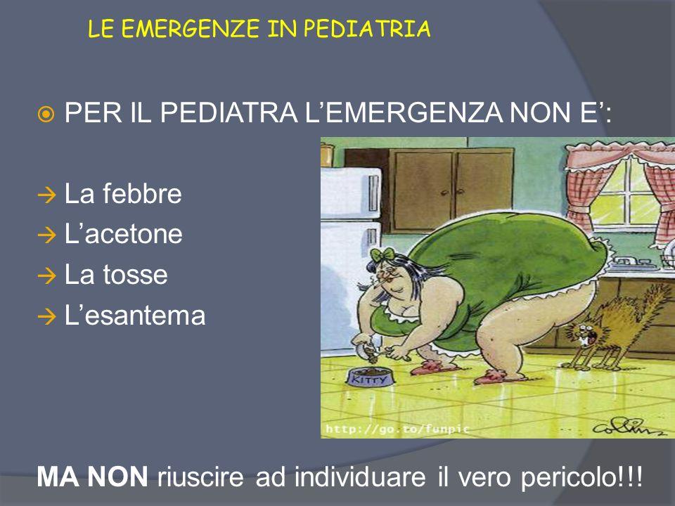 LE EMERGENZE IN PEDIATRIA PER I GENITORI LEMERGENZA E: La febbre Lacetone La tosse Lesantema Il pediatra che non si trova mai!!!