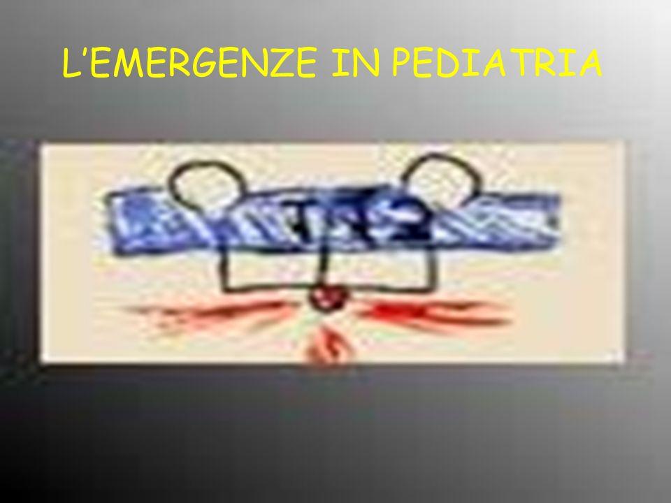 LEMERGENZE IN PEDIATRIA