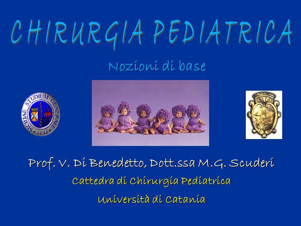 Prof. V. Di Benedetto, Dott.ssa M.G. Scuderi Cattedra di Chirurgia Pediatrica Università di Catania Nozioni di base