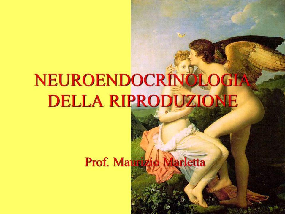 NEUROENDOCRINOLOGIA DELLA RIPRODUZIONE Prof. Maurizio Marletta