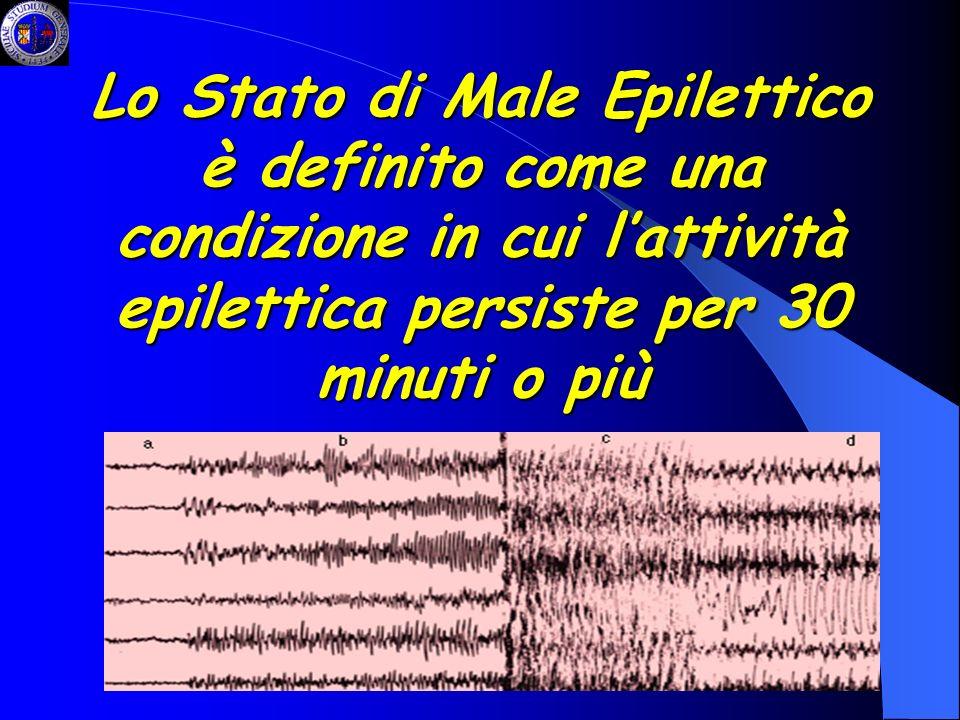 Lo Stato di Male Epilettico è definito come una condizione in cui lattività epilettica persiste per 30 minuti o più