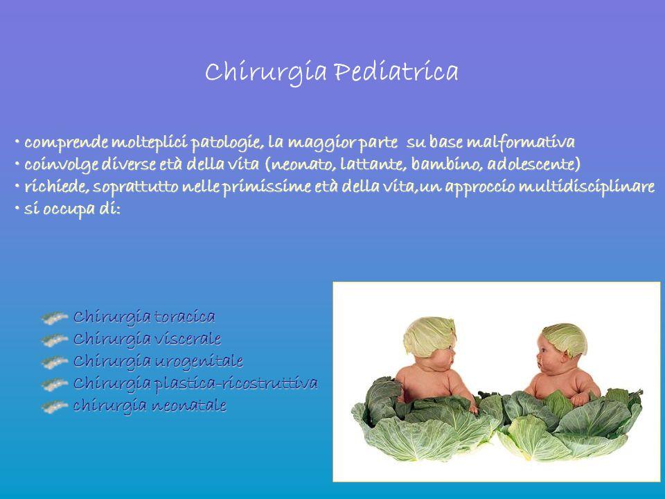 Chirurgia Pediatrica comprende molteplici patologie, la maggior parte su base malformativa comprende molteplici patologie, la maggior parte su base ma