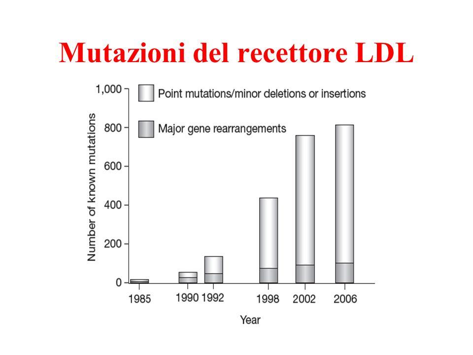 Mutazioni del recettore LDL