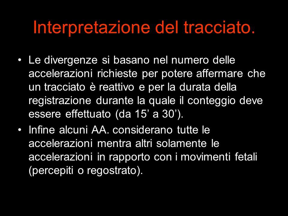 Le divergenze si basano nel numero delle accelerazioni richieste per potere affermare che un tracciato è reattivo e per la durata della registrazione