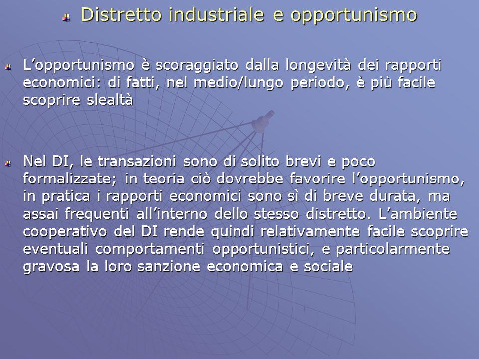Distretto industriale ed incertezza Che cosa si intende per incertezza.