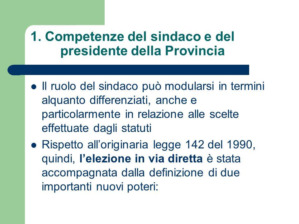 LA GIUNTA COMUNALE E PROVINCIALE Gli organi del Comune e della Provincia