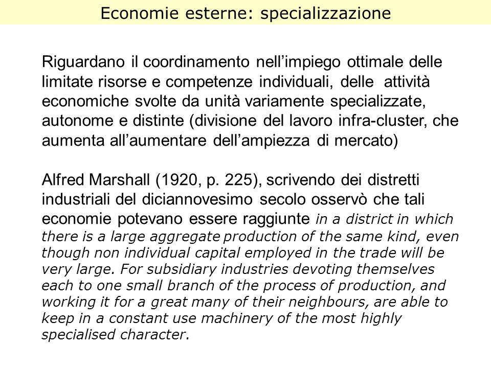 Riguardano il coordinamento nellimpiego ottimale delle limitate risorse e competenze individuali, delle attività economiche svolte da unità variamente