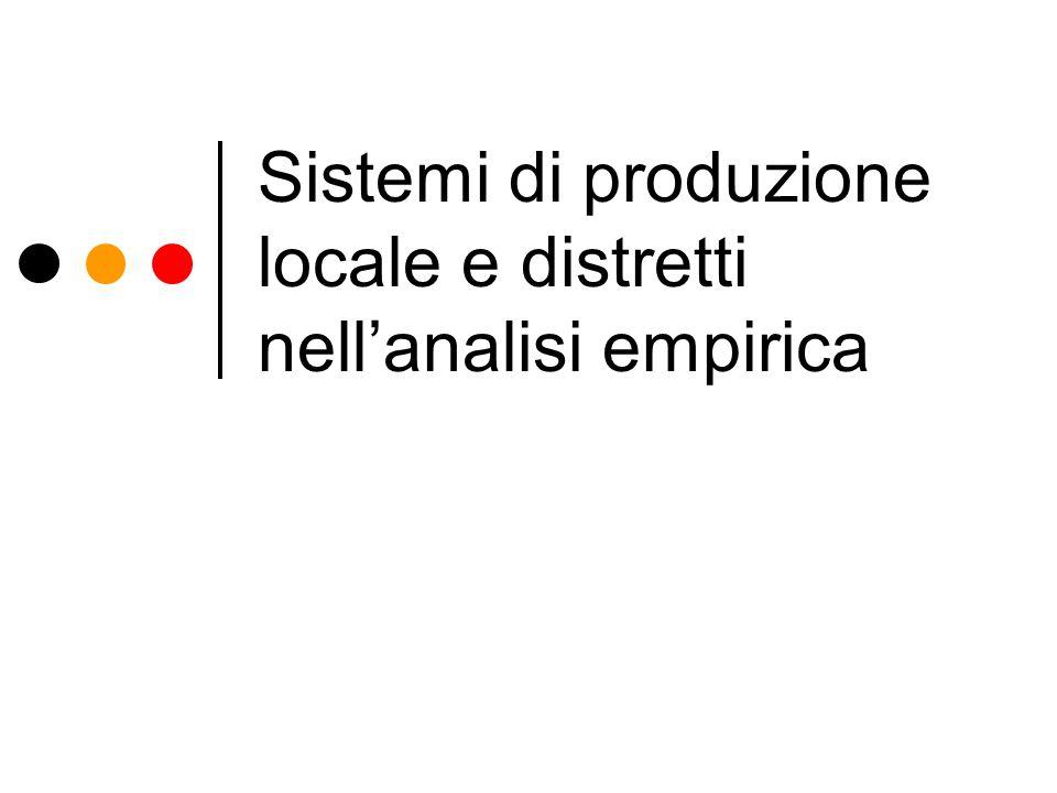 Sistemi di produzione locale e distretti nellanalisi empirica