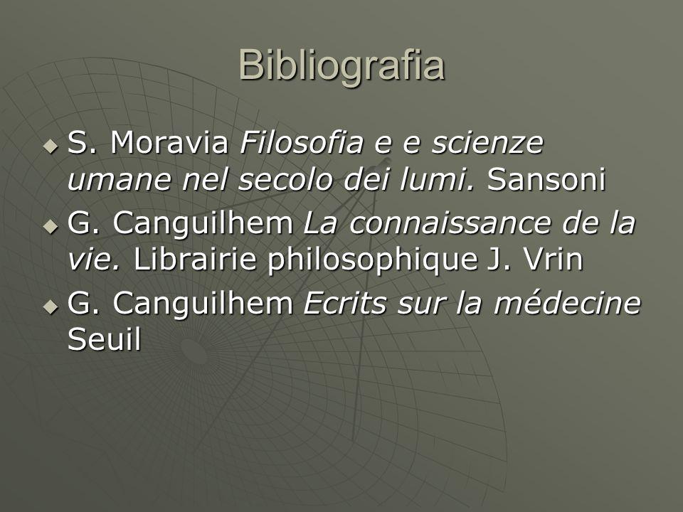 Bibliografia S. Moravia Filosofia e e scienze umane nel secolo dei lumi. Sansoni S. Moravia Filosofia e e scienze umane nel secolo dei lumi. Sansoni G