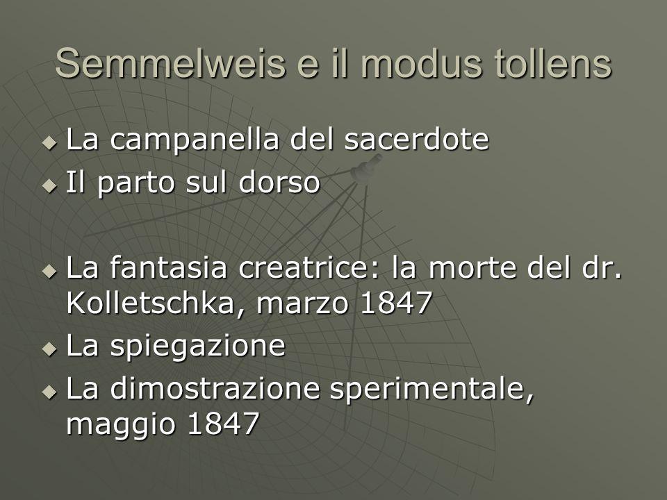 Semmelweis e il modus tollens La campanella del sacerdote La campanella del sacerdote Il parto sul dorso Il parto sul dorso La fantasia creatrice: la