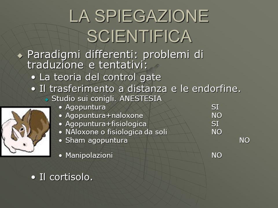 LA SPIEGAZIONE SCIENTIFICA Paradigmi differenti: problemi di traduzione e tentativi: Paradigmi differenti: problemi di traduzione e tentativi: La teor